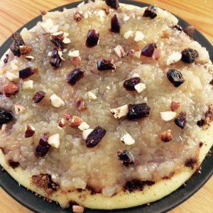 Polenta s jablečným pyré a kakaem